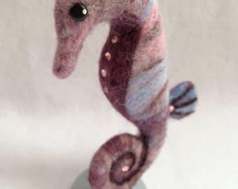 Needle Felted Precious Seahorse