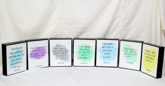 Wood block quote stephen king quotes photo blocks wood block quote stephen king quotes photo blocks personalized picture wood wood sign wedding centerpieces for table 5x7 print junglespirit Gallery