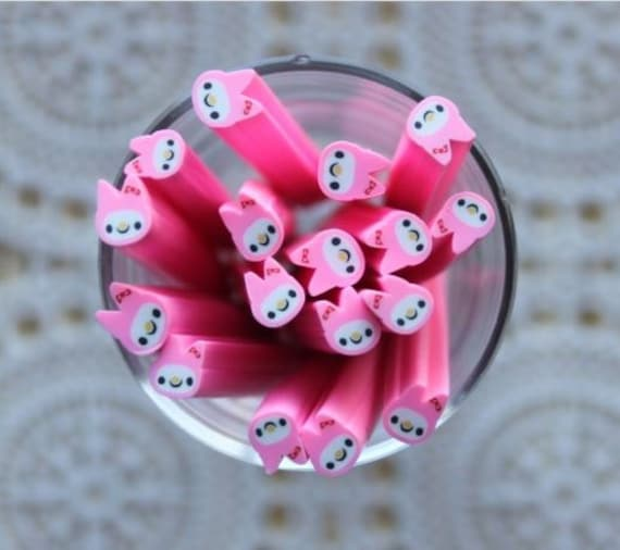 1 Piece. 5mm Pink Rabbit Polymer Clay Cane. Craft Supplies. Jewellery Supplies
