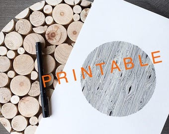 PRINTABLE black and white wood