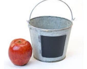 Galvanized Buckets with Chalkboard | Galvanized Tin Pail | Retirement Bucket List | Wedding Sparkler Bucket | Herb Planter