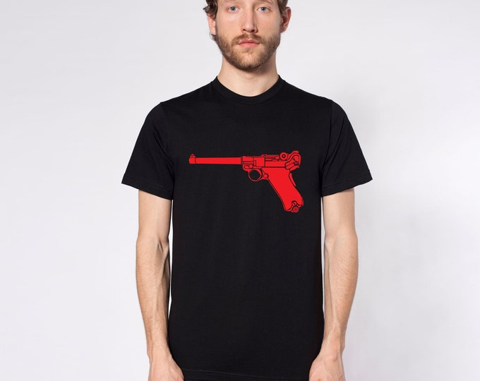 KillerBeeMoto: Limited Release Vintage German Luger 9MM Pistol On Short or Long Sleeve T-Shirt
