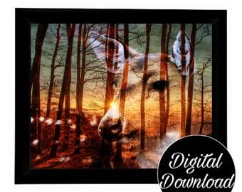 Deer Art Digital Download