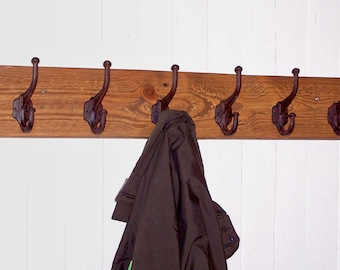 Rustic Wooden Coat Rack