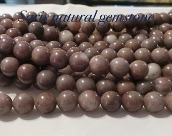 Purple Aventurine beads, natural Gemstone Round Beads, Size  about 10mm in diameter, hole 1mm