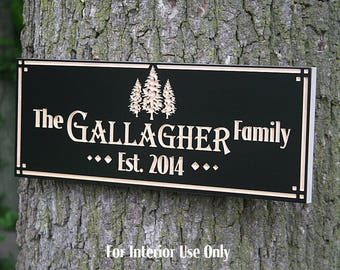 Family Name Sign, Custom Cabin Sign, Lakehouse Sign, Lake House Sign, Wooden Last Name Sign, Benchmark Custom Signs, Maple TEfs