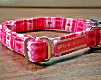 Heart Blossoms - Eco Dog Collar