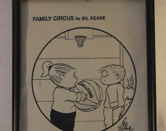 Original Signed Family Circus Panel/Comic Art