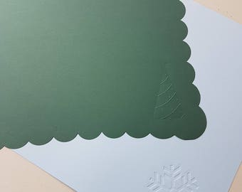 Creative Memories Decorative Christmas cardstock shapes 12x12
