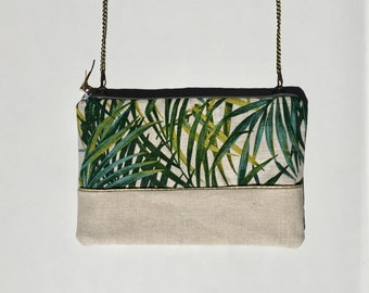 Clutch with detachable chain shoulder strap - model Palm Springs