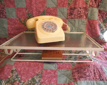 Original Vintage Wall Mounted Telephone Shelf - c. 1960's