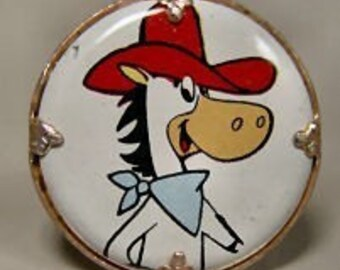 Quick Draw McGraw 1970s Hanna Barbara Cartoon Ring