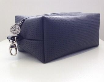 Mens Dopp kit - Mens Boxy Pouch - Travel kit- Leather travel kit