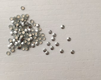 100 Silver Nail Art 2mm Round Studs