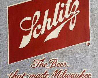 Schlitz Beer T Shirt transfer