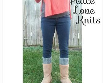 Gray Crochet Boot Cuff ~Boot Topper ~Boot Sock