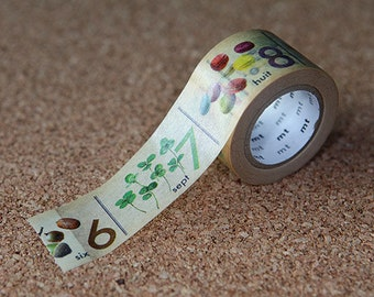 Number  - Japanese Washi Paper Masking Tape, mt ex,  Card Decoration, Planner, Journal, Wrapping, Colorful Kids Art Design Sticker, MTEX1P65