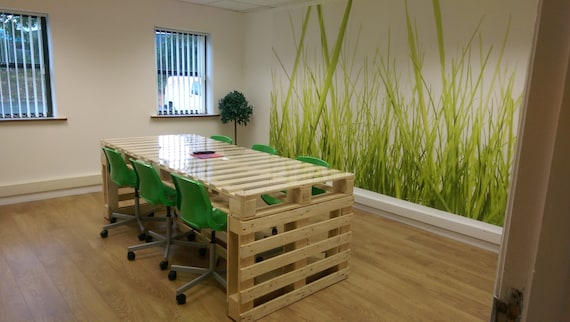 Items Similar To Pallet Upcycled Meeting Office Table On Etsy