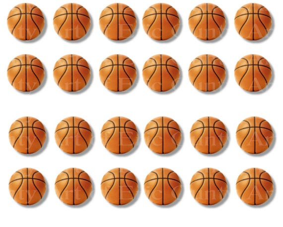 Basketballs Sports Birthday - Edible Cake and Cupcake Topper For Birthday's and Parties! - D22976
