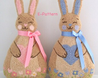 Chubby Bunny PDF Punch Needle Pattern - Instant Download