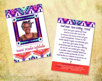 Beautiful African Prayer Cards: Bisa Design
