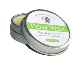 All-Natural Paw Wax 2oz tin - protect your best friend's paws with our Paw Wax; handmade with just 4 natural ingredients