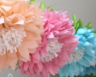 Etsy your place to buy and sell all things handmade 5 giant hanging paper flowers cake smash baby shower bridal mightylinksfo