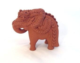 Small Terracotta Elephant, Thailand