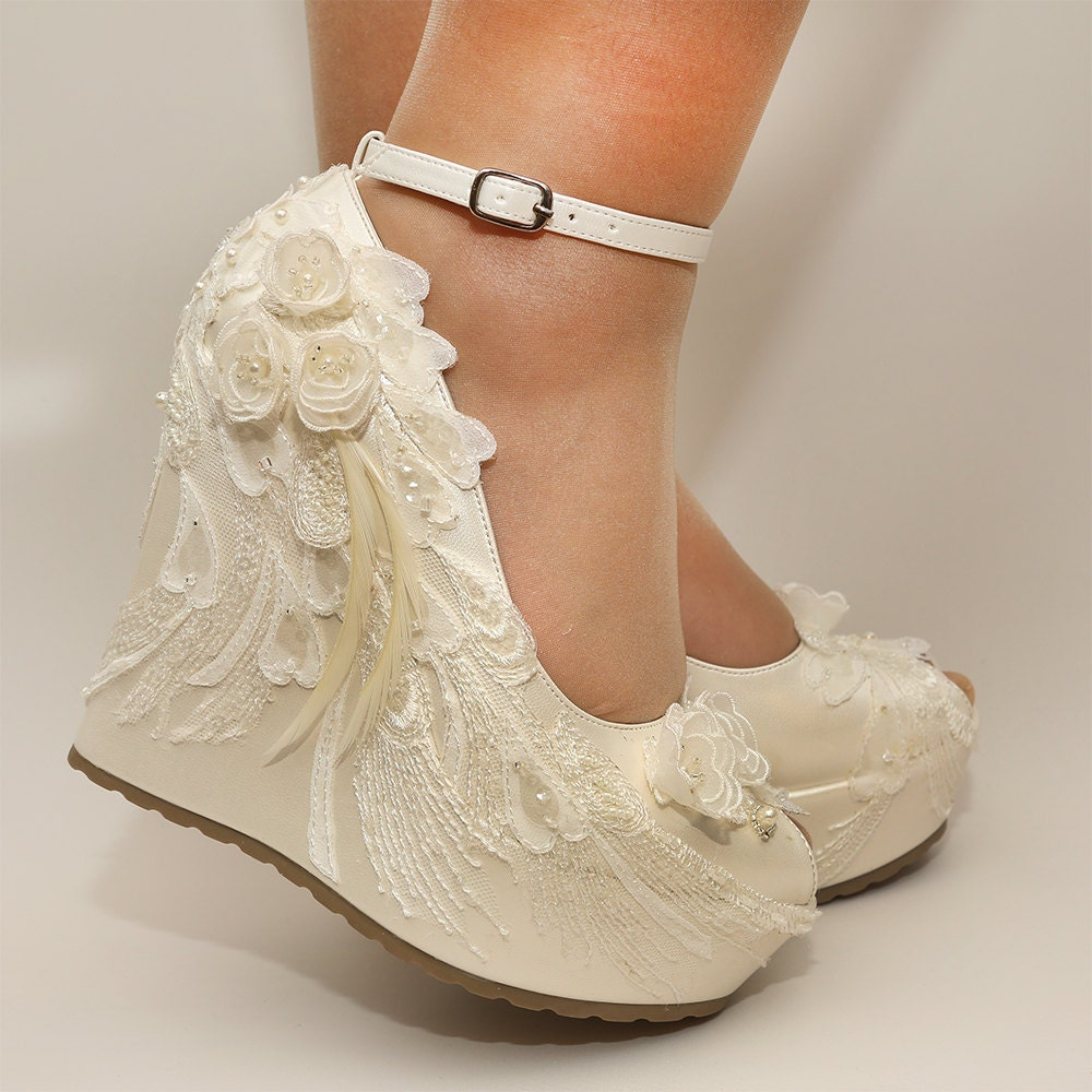 Wedding Wedge Heels: Ivory Wedges Wedding Wedge Wedges Bridal WedgesBridal