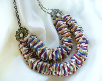 Handmade Fiesta Fabric Necklace