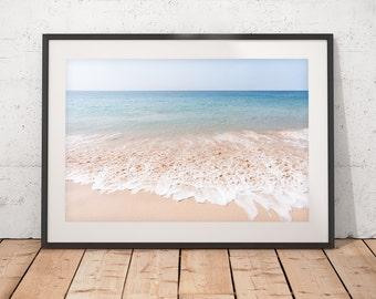 Ocean Photography, Abstract Art Print, Coastal Photography, Hawaii Beach, Turquoise Decor, Minimalist Art, Printable Art, Digital Download