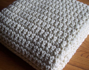"Crochet PATTERN / Beginner / Extra Large Chunky Afghan / 50"" x 72"" / PDF 5072"