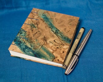 Coptic Bound Sketchbook or Journal - Blue and Brown