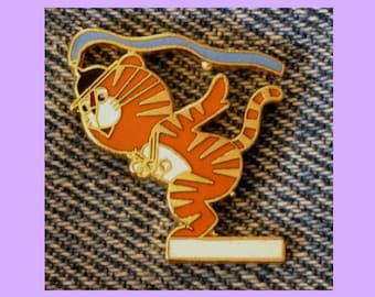 Swimming Olympic Pin~1988 Seoul~Mascot~Hodori the Tiger~by HoHo NYC