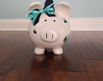 Piggy Bank, Customized Bank, Large Piggy Bank, Nursery Decor, Baby Shower Gift