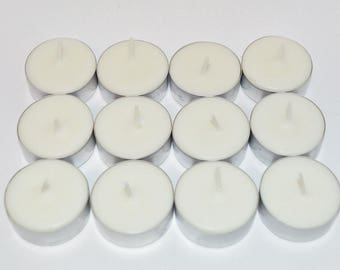 White Tea & Pear  Scented Tea Light Candles 12 Pack Made With Soy Dye Free