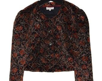 J_005) Vintage Baroque style print jacket