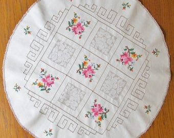Large embroidered doily