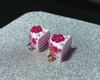 Cute polymer clay sakura cake planner-knitting charm/ cell phone charm/ necklace