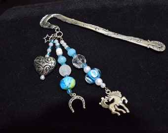 Whimsical Blue Shepherd Hook Bookmark