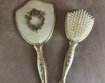 Vintage (1950s style) Brush and Mirror Set