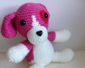 Crocheted animal Mimi the Dog (Beagle)