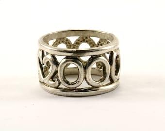Vintage Millenium Design Ring 925 Sterling Silver RG 2717