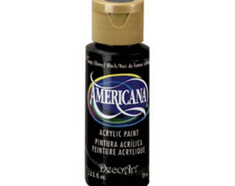 Americana Acrylic Paint 2oz- Ebony Black – DA067