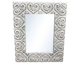 Heart Tin Mirror 18 in. x 24 in.