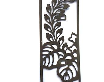 Japanese Metal Plate -  Furniture Plate - Leaf (MP10)