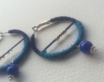 "Mix Blue  Earrings ""Ultramarine"" loops"