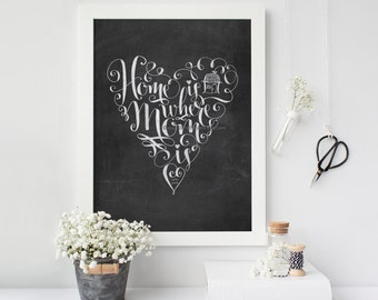 Mother's Day Gifts Home Is Where Mom Is Chalkboard Print Heart Art gifts for mom personalized prints for mother's day prints Chalkboard Art