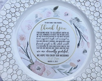 Round Thank You Inserts • Watercolor Flower Collection • Circle Menu • Any Size ROUND MENU • Charger Menu • Thank You Cards