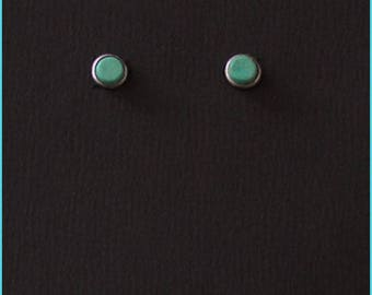 6mm Turquoise Stud Post earrings, singly or a pair